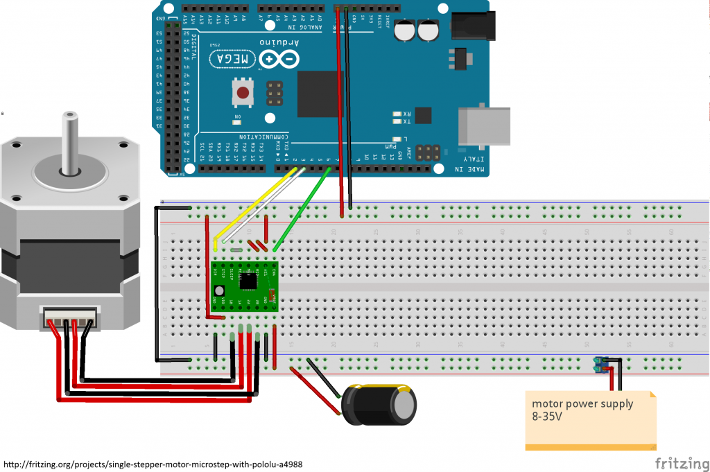 circuit arduino with stepper motor driver