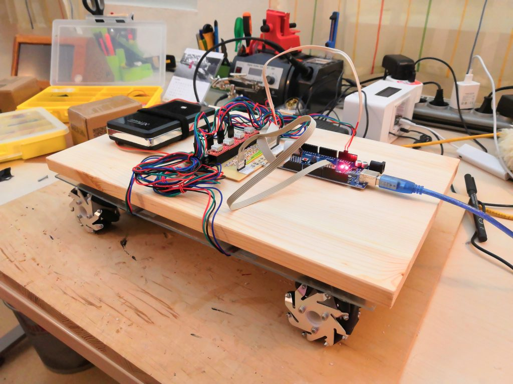 mobile robot with intermediate layer